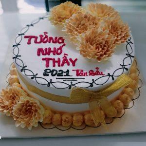 Bánh kem hoa cúc vàng